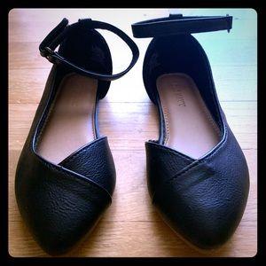 Old Navy black girls shoes